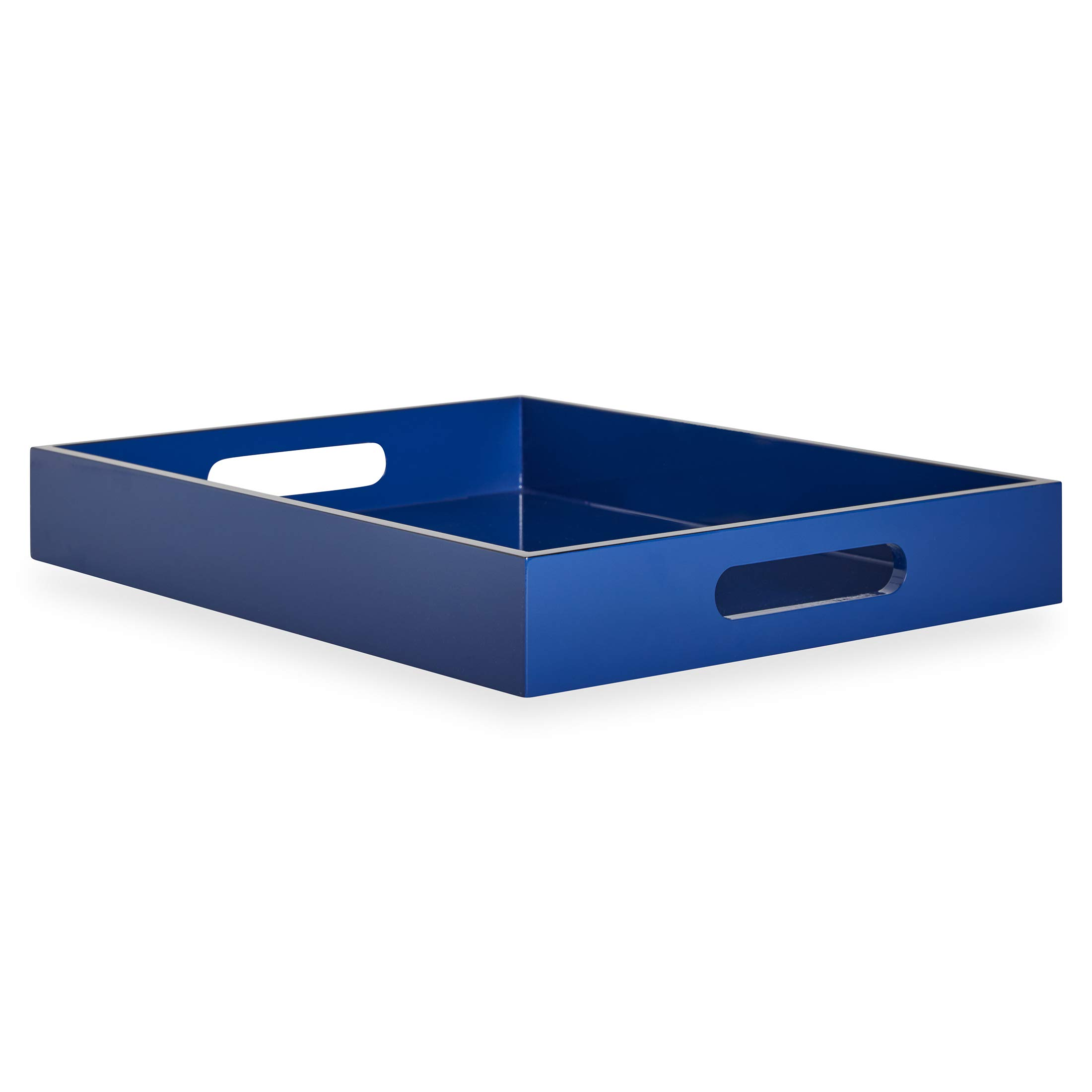 Now House by Jonathan Adler Chroma Lacquer Rectangular Tray, Blue