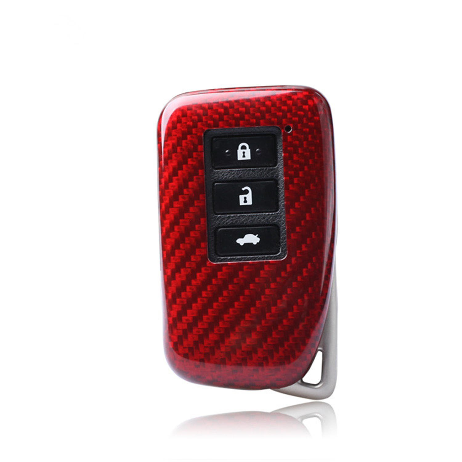 Red 4 Buttons Mens Car Key Fob Case Womens Fob Cover Genuine Carbon Fiber Cover For Lexus ES GS IS LX NX RX RC RC-F Smart Keyless Fob Remote Key 100/% Carbon Fiber Case For Lexus Key Fob