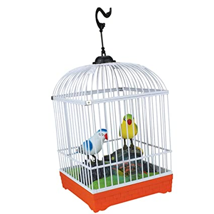Buy Prettyia Adorable Singing & Chirping Bird Toy in Cage