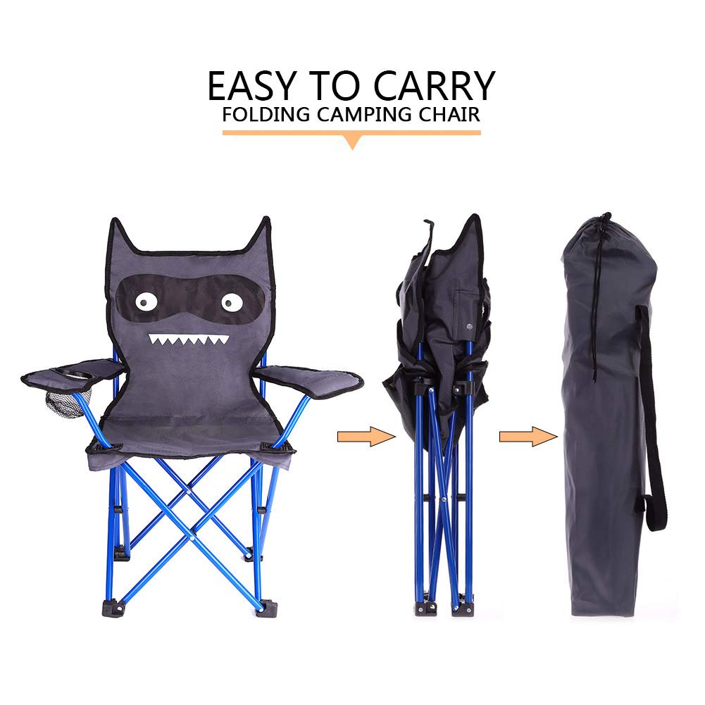 KABOER Kids Outdoor Folding Lawn and Camping Chair with Cup Holder, Little Devil Camp Chair by KABOER (Image #4)