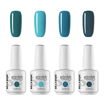 Amazon.com: BELLA MODA - Esmalte de uñas de gel de 15 ml con ...