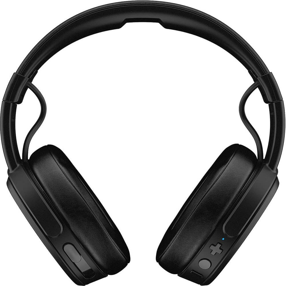 Noise Isolating Memory Foam Rapid Charge 40-Hour Battery Life Adjustable and Immersive Stereo Haptic Bass Skullcandy Crusher Bluetooth Wireless Over-Ear Headphone with Microphone Black