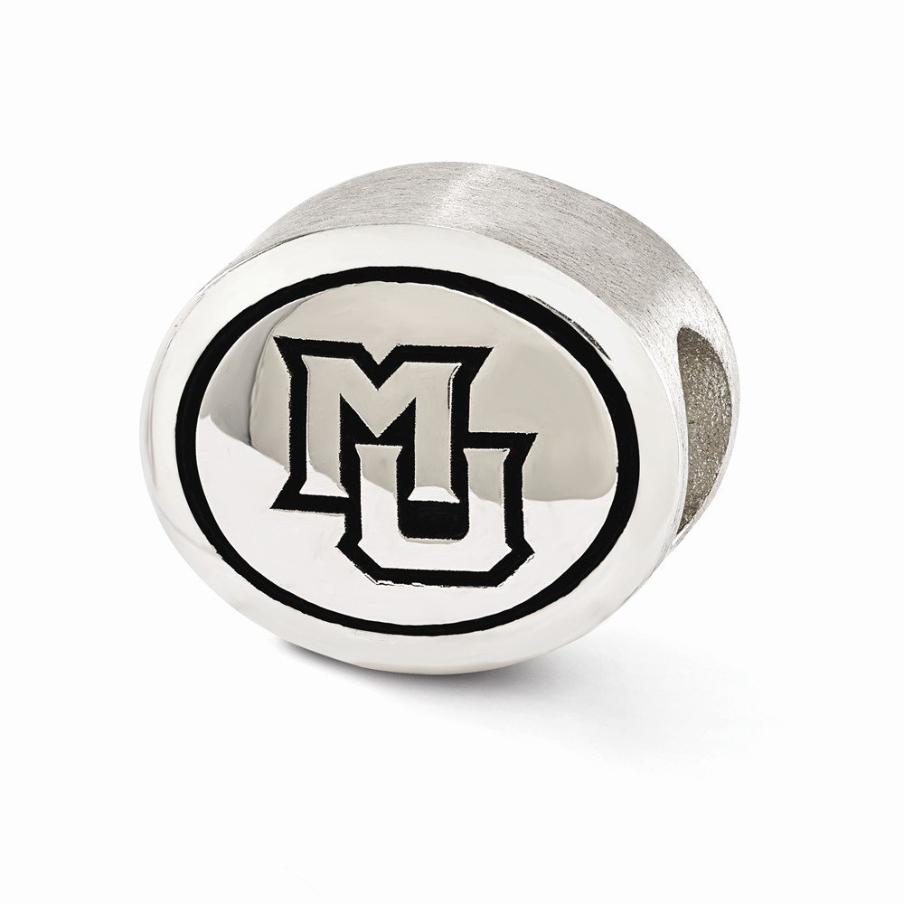 Sterling Silver Antiqued Marquette University Collegiate Bead