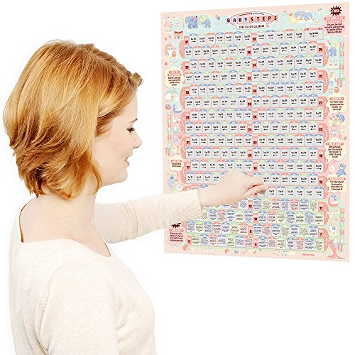 Clever me BabySteps Scratch-Off Calendar - 236 Entertaining Facts & Tips for Parents-to-Be
