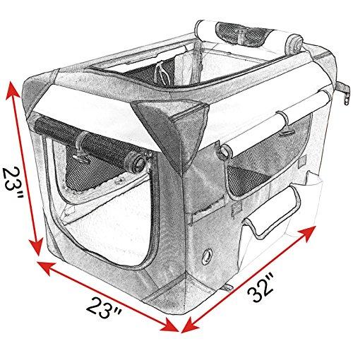 WOLTU Premium Soft Sided Pet Carrier Foldable Pet Travel Crate, Black+Beige, PCS01blkS4-a by WOLTU (Image #7)