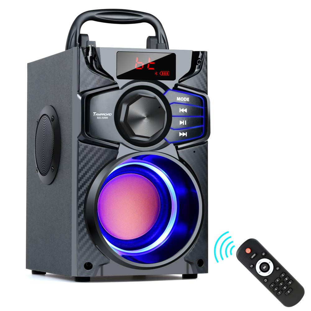 Bluetooth Speakers, Remote Control FM Radio for Phone Computer PC Home TV