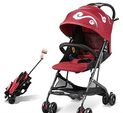 &Carrito de bebé Carro de bebé Ligero plegable/cochecito de bebé Ultraligero y pequeño portátil
