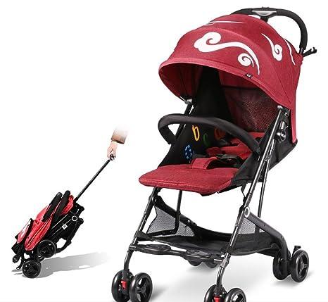 ZGP &Cochecito de bebé Carro de bebé Ligero Plegable/Cochecito de bebé Ultraligero y pequeño
