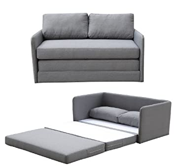 container furniture direct kathy collection modern fabric upholstered livingroom loveseat sleeper grey