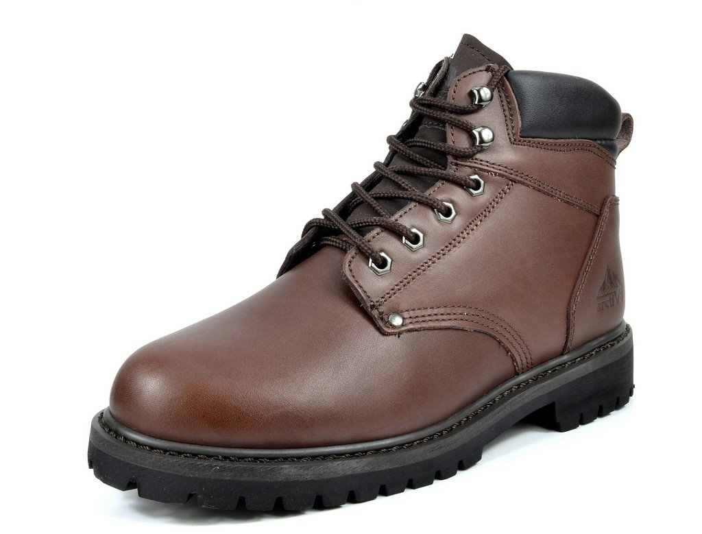 arctiv8 Men's Engine-02 Brown Full-Grain Leather Work Boots - 10.5 M US