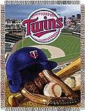 "MLB Minnesota Twins Home Field Advantage Woven Tapestry Throw, 48"" x 60"""