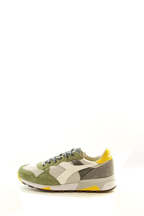 Calzature Uomo Diadora Trident Sneakers Con Riporti In Pelle