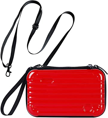 PC Hard Cosmetic Case,Clutch Bag with Charger,Comestic Bags