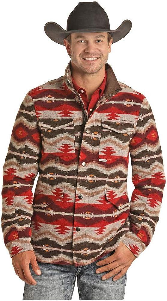Panhandle Mens Powder River Aztec Wool
