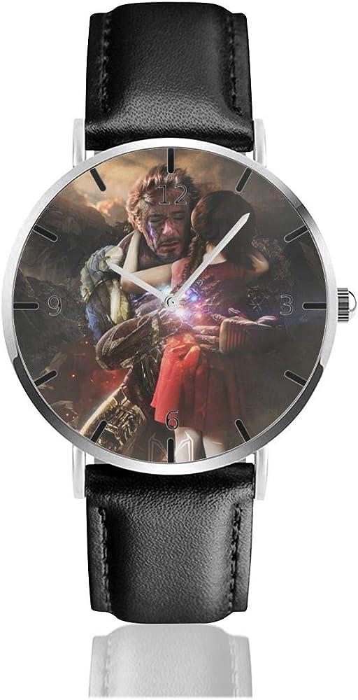 Reloj con número de reloj, correa de cuero personalizada, caja de acero inoxidable, movimiento de cuarzo: Amazon.es: Relojes