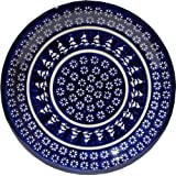 "Polish Pottery Dinner Plate 10.75 Inch From Zaklady Ceramiczne Boleslawiec #1014-243a Signature Pattern, Diameter 10.75"""