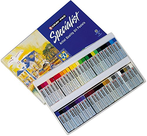 Sakura ESP50 50-Piece Cray-Pas Specialist Assorted Colors Oil Pastel Set, 2 Sets by Sakura