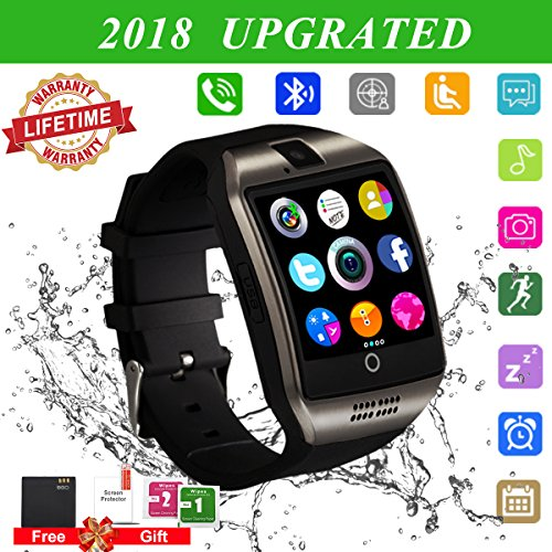 Smart Watch for Android Phones,2018 Bluetooth Smartwatch Android Phone Watch, Waterproof Smart Watches Touchscreen with Camera Compatible IOS iphone X 8 7 6 6S 5 plus Android Samsung for Women Man by Luckymore