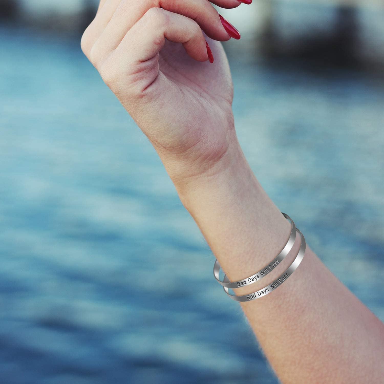 18 Pieces Bracelet Blanks Adjustable Cuff Bangle Bracelet Stainless Steel Blank Bracelet Bangle for DIY Jewelry Bangle Making 1//5 x 6 Inch