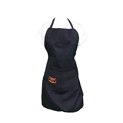 Yukon Glory ajustable Única Negro barbacoa delantal. Perfecto para Maestros del Grill y Dads (