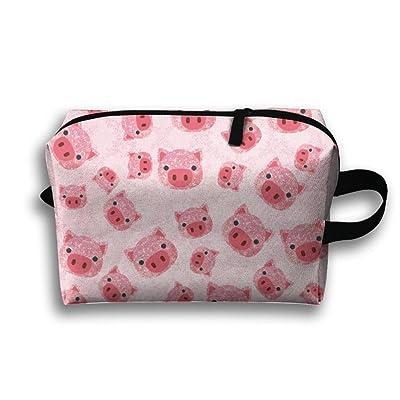 2d37cb05cc92 on sale Cute Pink Pig Face Pink Glitter Makeup Zipper Bags Storage ...