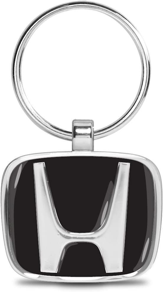 Official Licensed iPick Image Honda Logo 3D Look Chrome Die-cast Metal Key Chain Key-Ring