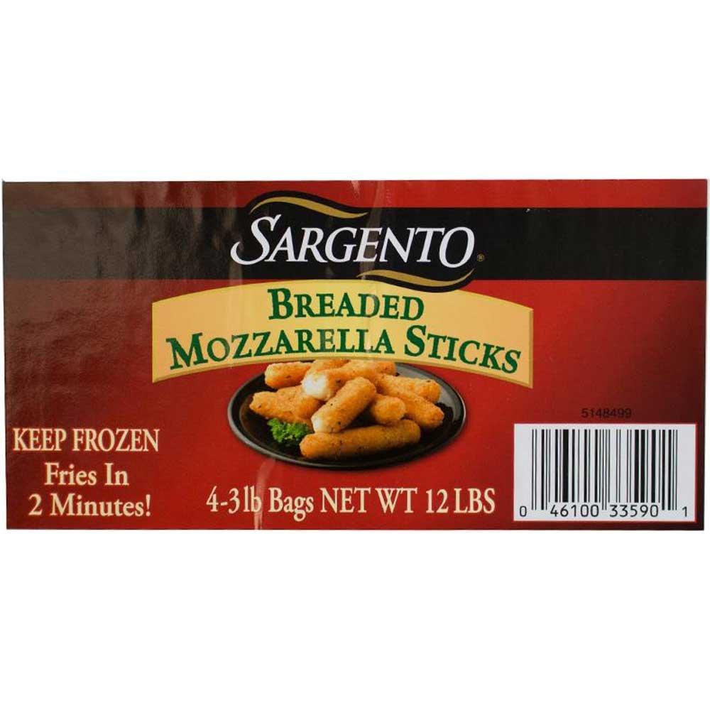 Sargento Breaded Mozzarella Sticks, 3 Pound -- 4 per case.