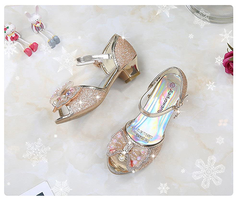 Bon Soir Girls Mary Janeshoes Cosplay Wedding Party Shoes Glitter Bridesmaids Low Heels Princess Dress Shoes