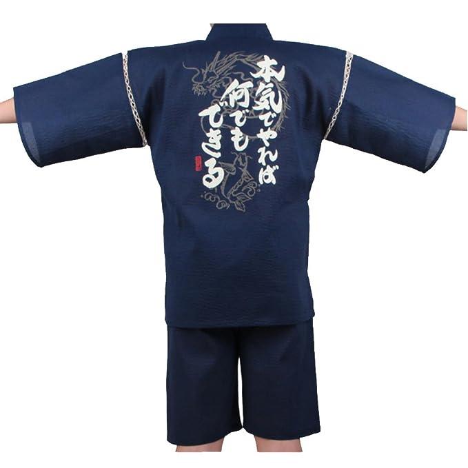 Fancy Pumpkin Traje de Pijama Kimono de Jinbei Estilo japonés para Hombres XL-12