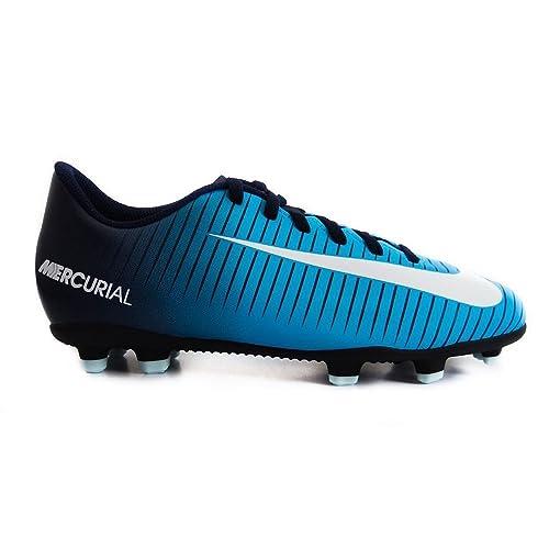 pretty nice 29a11 8b5d4 Nike JR Mercurial Vortex III FG, Botas de fútbol Unisex niños, Azul  (Obsidian Weiß-Gamma Blau 404), 32 EU  Amazon.es  Zapatos y complementos