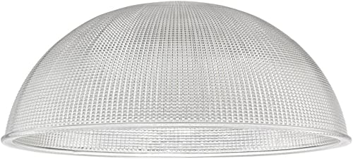 Design Classics Lighting Prismatic Glass Shade 13-Inch Wide 1.63-Inch Fitter