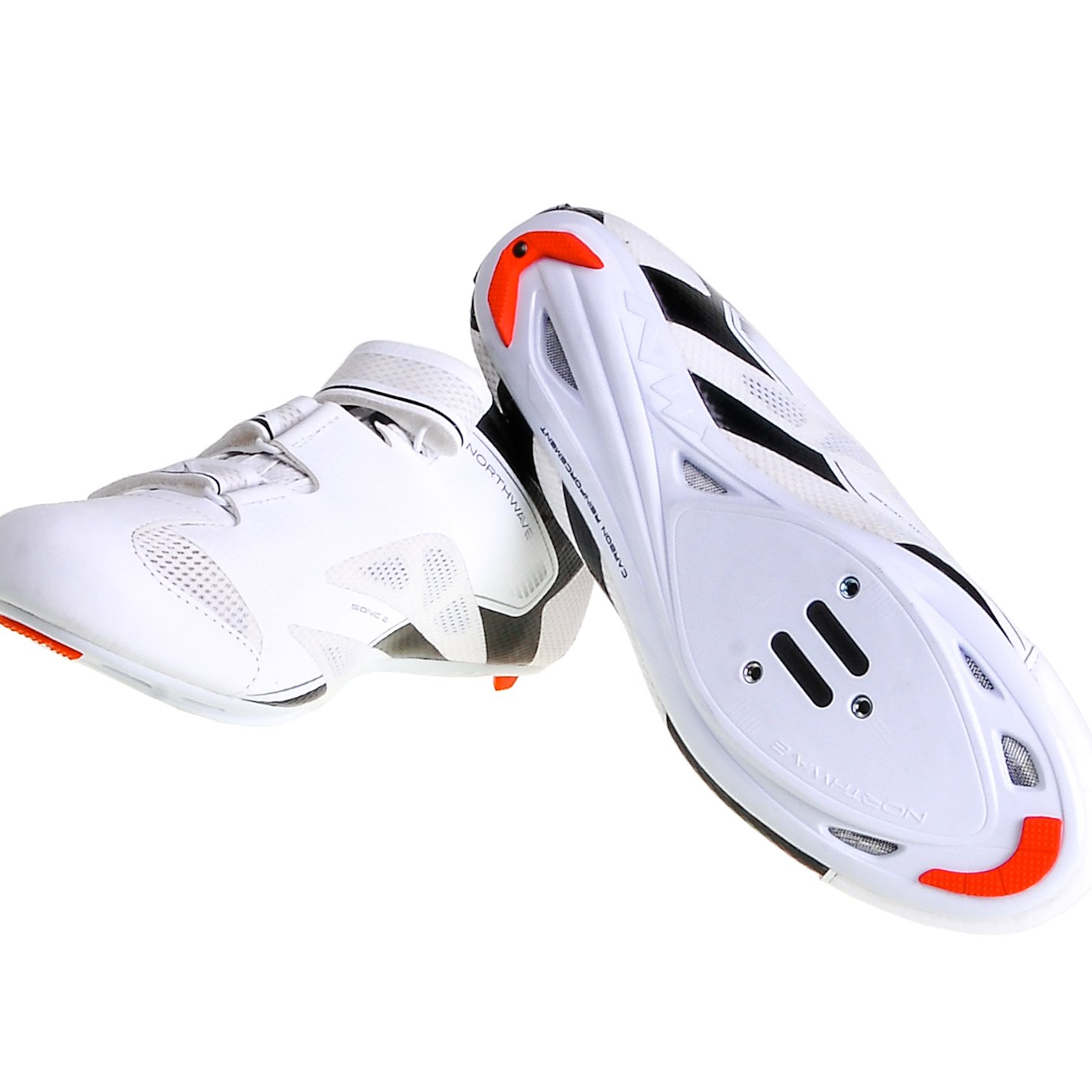 Northwave Sonic 2 Cycling Shoe 2016 (White/Black, 42)