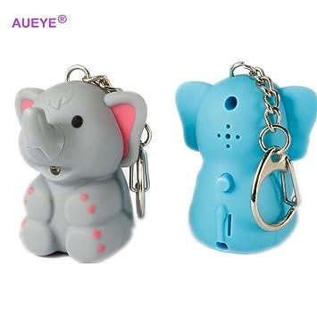 Amazon.com: 1 pcs ABS elefante llavero con linterna LED de ...