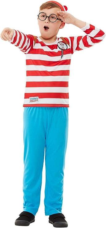 Smiffys 50279L - Disfraz oficial de ¿Dónde está Wally?, para niños ...