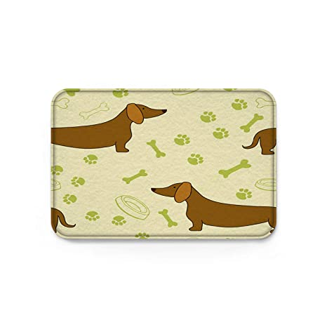 Amazon Com Front Door Mat Floor Rugs Dog Footprints Dachshund