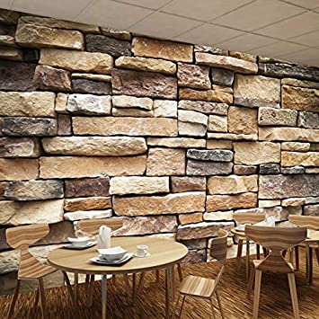3D Photo Wallpaper Vintage Rustico Stone Brick Wallpaper ...
