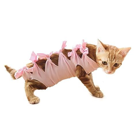 FIRIK Traje de Recuperación para Mascotas de Algodón Profesional Esterilización Operación Ropa para Gatos y Perros
