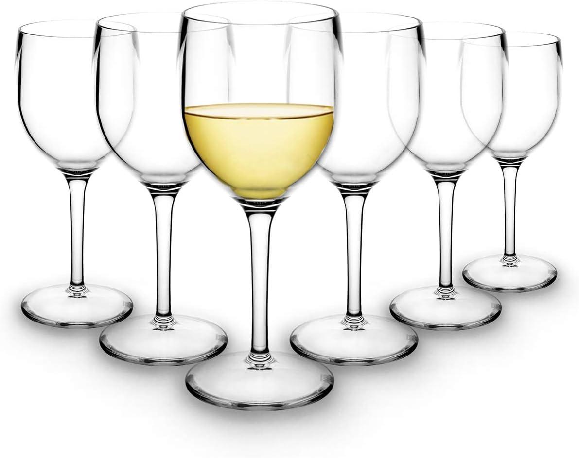 RBDRINKS Verres à vin plastique