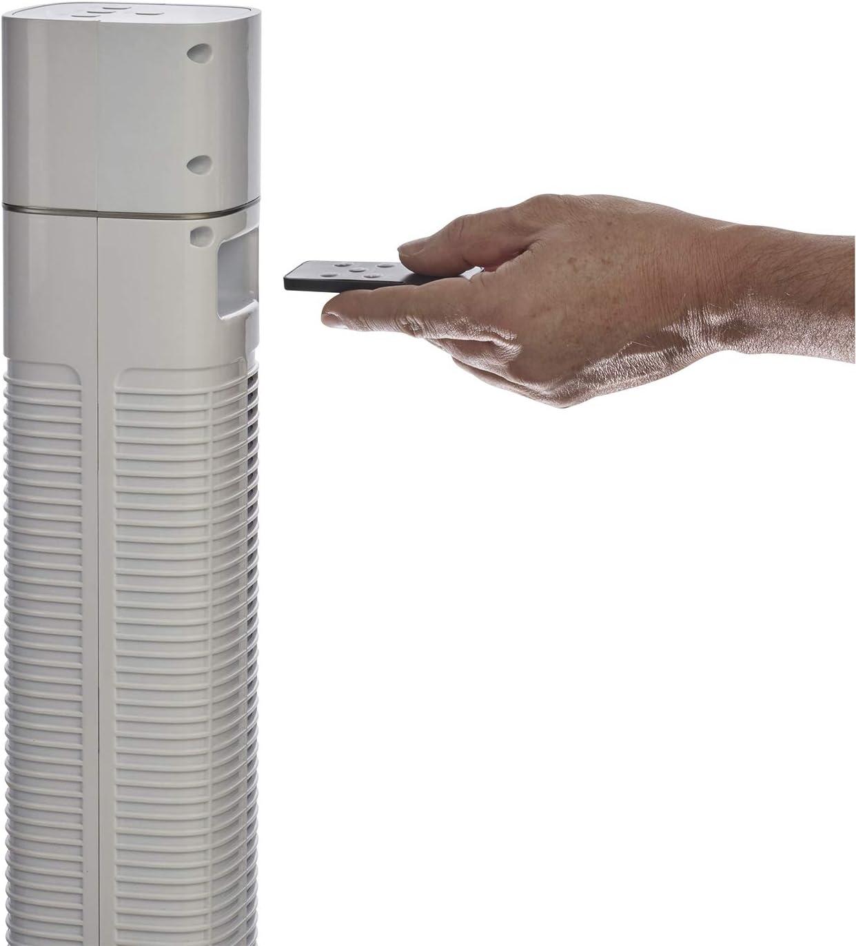 Ionizzatore Oscillazione Destra Sinistra Ventilatore a Colonna con Selettore 3 Velocit/à 60W Ventilatore con Telecomando Bimar VC119 Ventilatore Colonna Ionizzante con Bluetooth Speaker da 120cm
