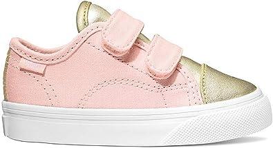Vans Baby Girl Sneakers, Pink, Gold, Sz