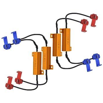 Resistencias de carga para LED, de NGCAT; 50 W, 8 Ohm (4 unidades): Amazon.es: Coche y moto