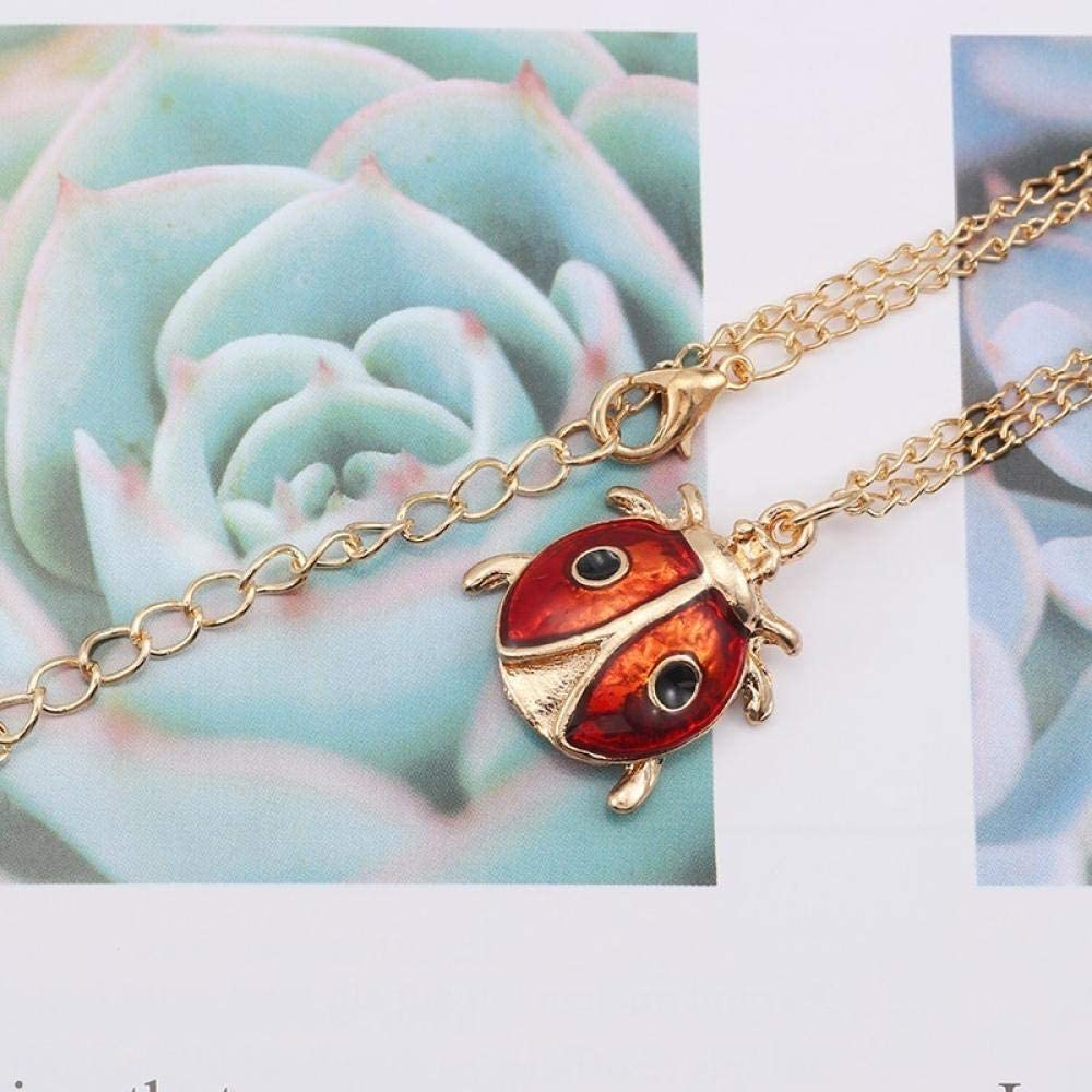 Necklaces Jewelry Gifts Pendants Cute Animal Insect Necklace for Women Mini Beetle Ladybug Pendant Necklace Children Fun Metal Jewelry Gift