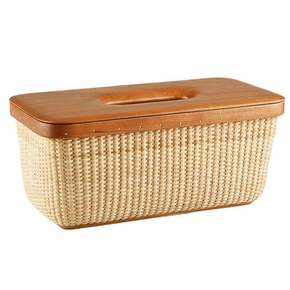 Rattan Tissue Box Toilet Living Room Home Paper Towel Tray