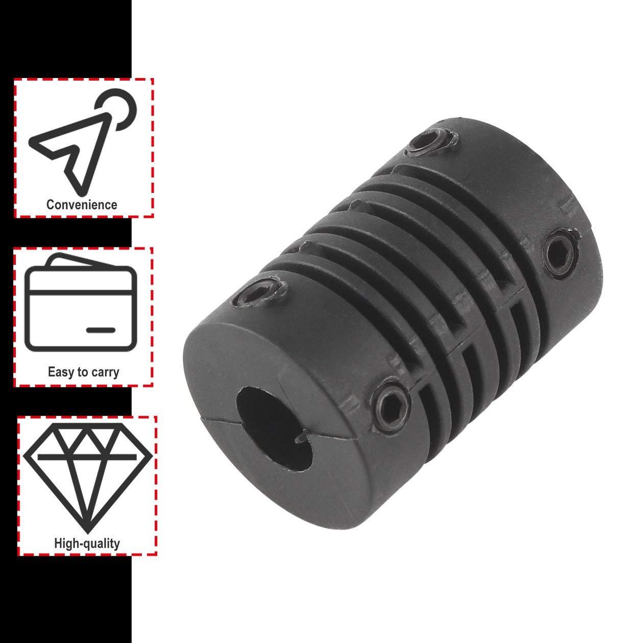 BIYI D15xL22 NUEVO 6x6mm Acoplador de eje de mand/íbula del motor CNC 6mm a 6mm Acoplamiento flexible OD 21 14MM color negro duradero negro