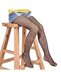 1 Piar of Kids Girls Hollow Out Fishnet Pantyhose Tights Black