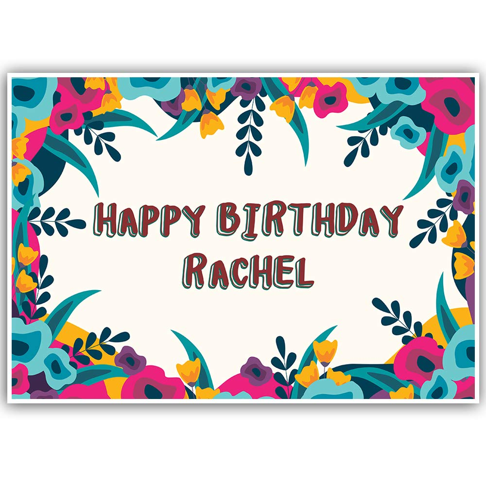 Cute Floral Birthday Personalized Banner