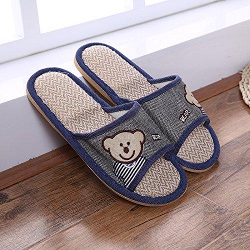 Maison Tendon Slipper Et 40 JIA Extérieur 45 Flaxen Grey Bottom Pantoufles Plancher Purple D'été Ours HONG 41 Pantoufles 44 Bois Maison Intérieur Pantoufles Et qqwOtvY