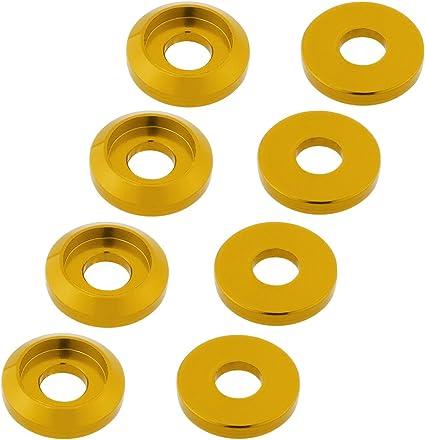 M2.5 Countersunk Washers,Aluminium Alloy,PK20,Yellow