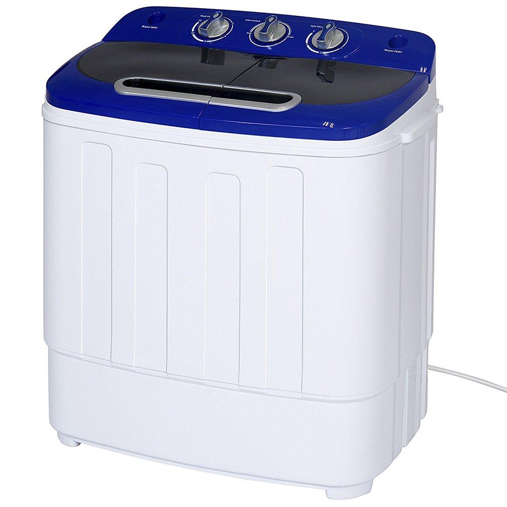 Display4top Portable Charge supérieure 3.8kg Bleu machine à laver - Lave-linge portable