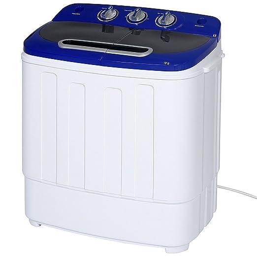 FOBUY Mini lavadora de doble bañera, lavadora portátil y compacta ...